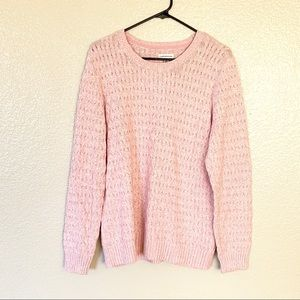 Croft & Barrow Chunky Knit Light Pink Sweater XL
